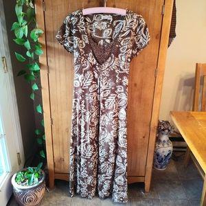 Newport News Button Down Layered Maxi Dress